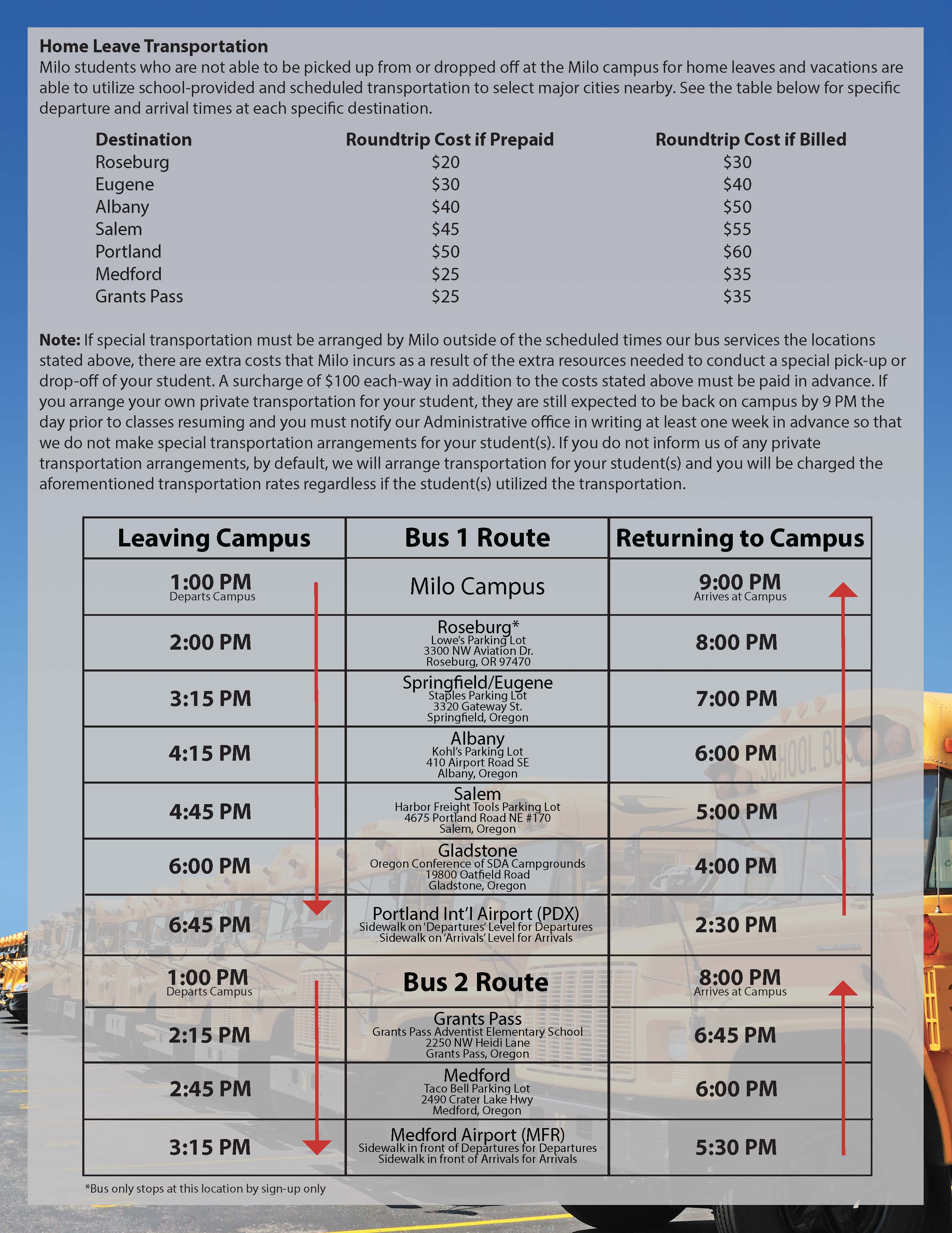 You Can Download A Pdf Copy Of The Bus Schedule Below By Clicking Here